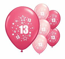 """30 x 13TH BIRTHDAY PINK MIX 12"""" HELIUM OR AIRFILL BALLOONS (PA)"""