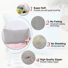 Sourcingmap Cushion Cover Stripe Design Velvet Throw Pillow Case Shell for Sofa