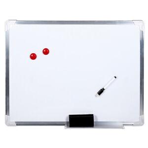 Lavagna Magnetica Bacheca XL 45 x 60 Cm Struttura Alluminio Fondo Bianco Laccato