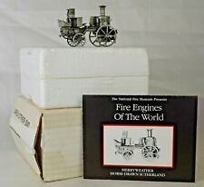 Pewter National Fire Museum Franklin Mint Merryweather Horse Drawn Sutherland MB