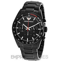 *NEW* MENS EMPORIO ARMANI BLACK ION PLATED SPORTS WATCH - AR6094 - RRP £399.00