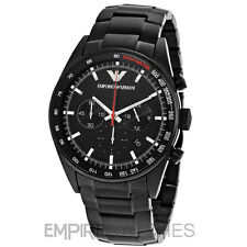* Nuovo * Da Uomo Emporio Armani Nero Ion Plated Sports Watch-ar6094-RRP £ 399.00