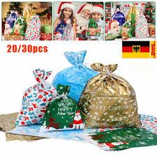 30X Weihnachten Geschenktüten Weihnachtstüten Geschenktasche Süßigkeiten Taschen