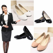 Women Office Work Low Heels Platform Wedge Slip On Work Shoes Court Pumps