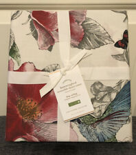 Pottery Barn Hummingbird Reversible Percale KING / CAL KING Duvet Cover New