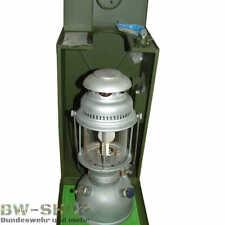 ORIGINAL BUNDESWEHR PETROLEUMLAMPE PETROMAX HK500 BW LAMPE + ZUBEHÖR & KISTE