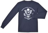 US Coast Guard shirt Men's long sleeve navy blue USCG t-shirt semper paratus
