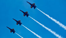2017 8x10 Photo Navy Blue Angels F/A18 Hornet Jets Fighters Lakeland Florida 7