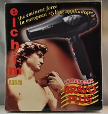 ELCHIM USA BLACK PROFESSIONAL BRAVO PLUS 1800 WATTS HAIR DRYER