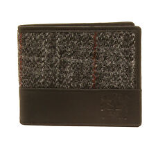 The British Bag Company - Berneray Harris Tweed Wallet with Black Leather Trim