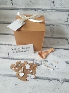 Will you be my Godfather, pop the balloon, personalised message, christening,