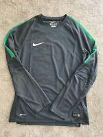 Men's Nike Football Cool Running Long-Sleeved Training Top Grey Size Medium M