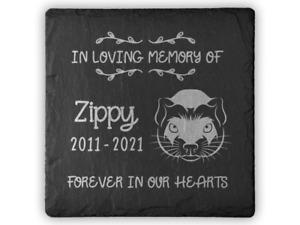Personalised Pet Memorial Plaque For Pet FERRET Grave Stone Slate Marker Gift