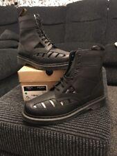 Dr. Martens 1460 Venecia Clásico de Cuero Negro Unisex Co BOTAS TALLA UK 13 EUR 48!