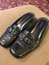 Liz Claiborne Shoes Black Leather Heels Slide/Slip On Size 10M Farrel (NS)
