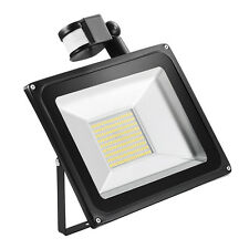 100W LED Flood Light Warm White PIR Motion Sensor Outdoor Security Waterproof
