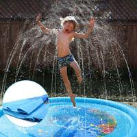 """KIDS WATER SPRINKLER PAD 67"""" Outdoor Yard Toddler Fun Inflatable Splash Play Mat"""