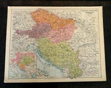 Map Of Hungary Yugoslavia George Philip & Son Vintage 1943