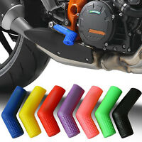 Black Rubber Motorcycle Motorbike Shift Cover Shifter Sock Shoe Boot Protector
