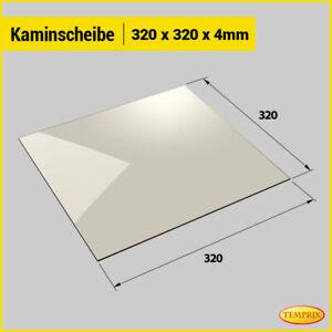 Kaminglas Ofenglas feuerfestes Glas 320 x 320 mm Kaminofenglas Kaminscheibe Ofen