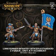 WARMACHINE Cygnar PIP31045 Long Gunner Officer & Standard NEW