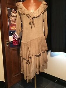 Beautiful Bnwt Silk/cotton Dress From Italy Size 8/10