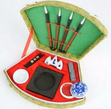 1 Set Chinese Calligraphy Writing Brush Pen Ink Mixing Inkstone brush rest Bowl