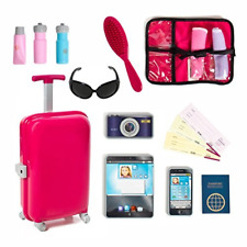 18 inch Doll Travel set including Carry on Luggage with Ticket Passport & 14