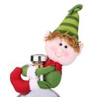 Christmas Santa Snowman Elf Wine Bottle Cover Table Party Ornament Decor Wrap