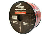 18 Gauge 250 Feet Speaker Wire Red Black 2 Conductor Copper Clad Aluminum CCA