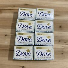 Vintage Dove Soap White Sample Trial Size 1 oz 1997 Moisture Lotion Lot Of 8