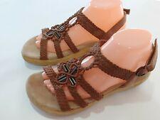 $120 Alegria Jena Slingback Leather Sandals Size 40, US 9.5 - 10