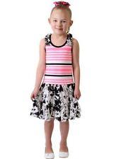 NEW Jona Michelle Girls' Casual Sleeveless SUMMER Dresses Pink/Black Floral 3T
