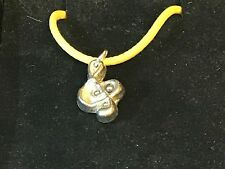 """Music Note TG45 English Pewter On 18"""" Yellow Cord Necklace"""