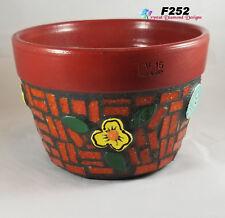 Flower Pot Planter Handmade Tiles & Glass Chili Tiles Mosaic Planter F252