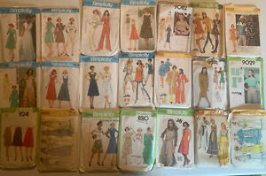 Vintage Simplicity Sewing Patterns,lot Of 21