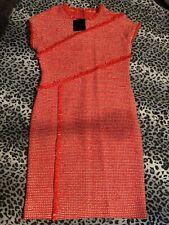 Genuine Designer St John Orange White Wool/tweed Blend BNWT