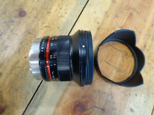Samyang 12mm F2.0 NCS CS Ultra Wide Angle Lens for Fujifilm X Cameras, Black