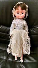 Vntg Bride Doll, 1960's ?, Maker Unknown, Rubber Head, Plastic Body, Nice