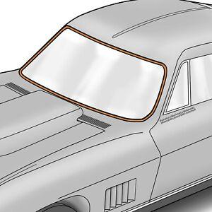 1963-1967 Corvette C2 Coupe Windshield Seal 644442