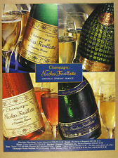 1996 Champagne Nicolas Feuillatte brut rose 4 Bottles photo vintage print Ad