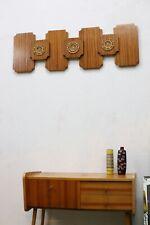 TRUE VINTAGE große 70er JAHRE WANDDEKO Holz 70s abstrakt DDR Kunstgewerbe Objekt