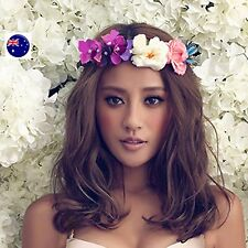 Women flower Fairy Butterfly Purple wedding Party Hair Headband Crown Garland