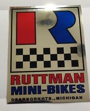 Ruttman Mini Bike Decal