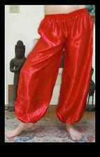Harem Pants Belly Dance Satin Scarlet Red