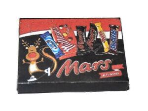 Dolls House Miniature Mars Christmas selection box-Shop-seasonal-1:12 scale