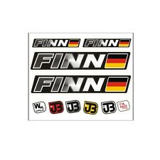 """Finn"" Auto Fahrrad Motorrad Kart Helm Fahrername Aufkleber Sticker Flagge"