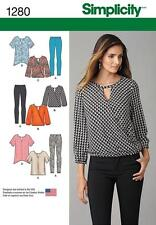 SIMPLICITY SEWING PATTERN MISSES' LEGGINGS TUNIC 2 LENGTHS TOP XS - XL 1280