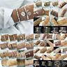 Fashion Women Jewelry Set 5Pcs Rope Natural Stone Crystal Chain Alloy Bracelets