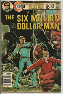 The Six Million Dollar Man #2 Charlton Comics